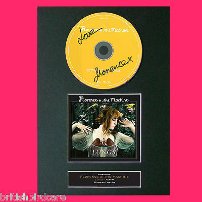 FLORENCE & THE MACHINE Lungs Album Signed CD COVER MOUNTED A4 Autograph Print 66