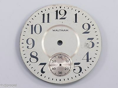 Vintage Waltham Pocketwatch Dial out of Estate!  45mm METAL Open Face Style