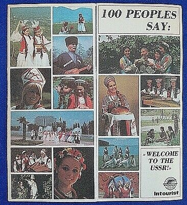 """Vintage 1960s """"Welcome to the USSR!"""" Soviet Union Intourist Brochure-Russia"""