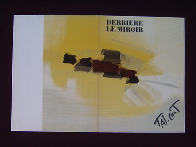 Art Catalogue-DLM 153-PIERRE TAL-COAT-LITHOGRAPHS-Derriere le Miroir-1965