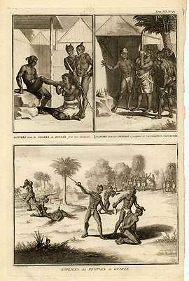 Antique Print-AFRICA-GUINEA-EXECUTION-Picart-1727