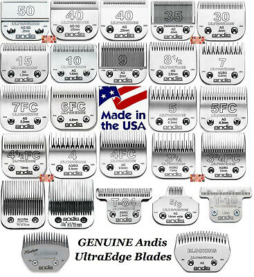 ANDIS UltraEdge Steel Blades*Fit Oster,Wahl,Laube AG/BG/A5 Clippers Pet Grooming
