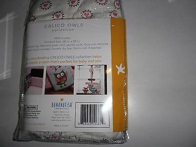 Bananafish Calico Owls Fitted Baby Nursery Crib Sheet New!