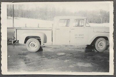 Vintage Photo US Navy 1960 Ford Pickup Truck 600277