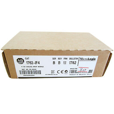 New in box Allen Bradley 1762-IF4 PLC Analog Input Card Factory Seal