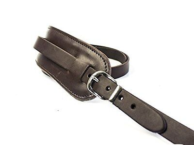 UK Made Brown Real Leather Vintage Style Electric Acoustic Shoulder Guitar Strap