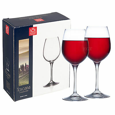 RCR Toscana Glass Crystal Red Wine Glasses Dinner Gifted Box Christmas Dinner