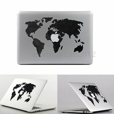 World Map Vinyl Decal Sticker Skin for Apple MacBook Air/Pro Laptop 13'' 15''