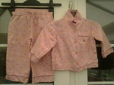 Gap Girls Pink & Coloured Spotted Cotton Pyjamas - Aged 2 Yrs