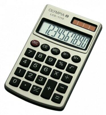 Olympia Calculatrice Lcd-1110 Argent