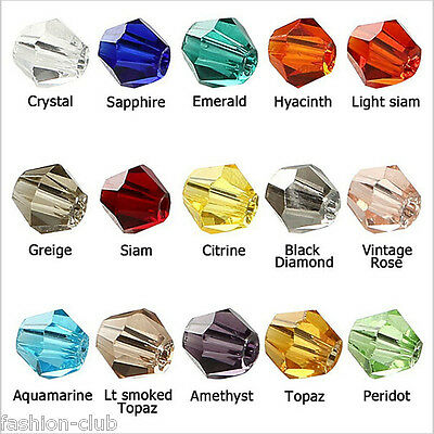 Wholesale 50Pc Top Quality Czech Crystal Faceted Bicone Beads 6mm Jewelry Making