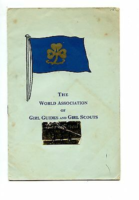 Old THE WORLD ASSOCIATION OF GIRL GUIDES and GIRL SCOUTS 1957
