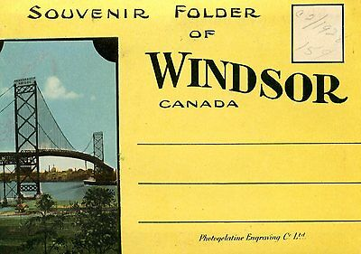 Old post card SOUVENIR PHOTO PACK WINDSOR ONTARIO CANADA