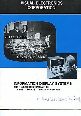 Old VISUAL ELECTRONICS CORPORATION info display systems  TV Elections etc