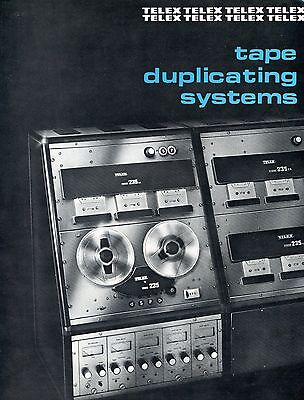 Old booklet pamphlet TELEX tape duplicating systems reel-to-reel 1970