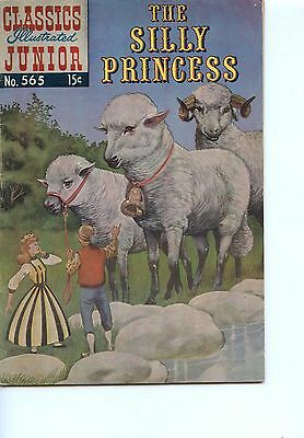 Old CLASSICS ILLUSTRATED JUNIOR comic book 1960 THE SILLY PRINCESS