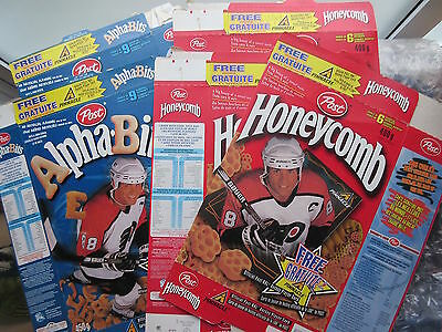 8 Old 1997-98 Hockey Cereal Boxes Bugles Eric Lindros Brendan Shanahan