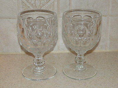 Imperial Glass Provincial Clear Pair Water Goblets 5 1/2""
