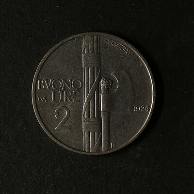 1924 - R Italy 2 Lire KM 63 Great Deals From The TECC Bargain Bin