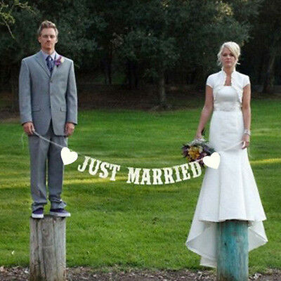 Photo Props Just Married Love Wedding Bridal Supply Decoration Garland Banner