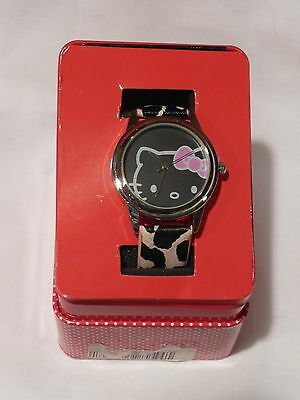 Hello Kitty Sanrio Womans/juniors Animal Print Band Watch New $38