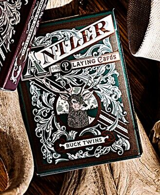 Antler Playing Cards - Hunter Green by Dand and Dave Poker Spielkarten