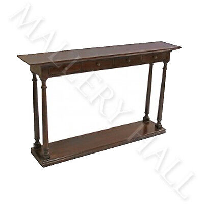 4 Drawer Solid Oak Console--Two Finishes