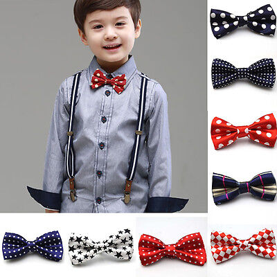 Kid Child Baby Toddler Bowtie Pre-Tied Wedding Party Bow Tie Necktie Xmas Gift