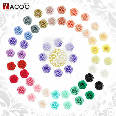 Resin Flowers Cabochons Flatbacks Floral Cameos Settings 14x14mm Wholesale