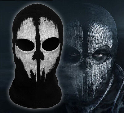 Novel Ghost Skull Balaclava Bike Motorcycle Ski Helmet Hood Sport Neck Face Mask