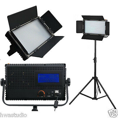 LED576AL Daylight LED Studio Panel light LCD Touch Screen film dimmable 1 kit