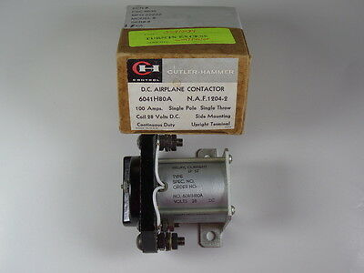 Cutler-Hammer DC Airplane Contactor 100 Amps 6041H80A