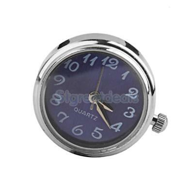 Silver Blue Watch Dial Snap it Charm Chunk Bead Button Watch Clock Jewelry