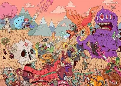 """Psychedelic Trippy Art Fabric poster 17"""" x 13"""" Decor 56"""
