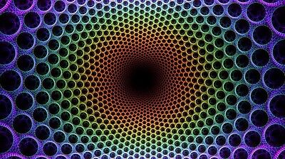 """Psychedelic Trippy Art Fabric poster 24"""" x 13"""" Decor 30"""