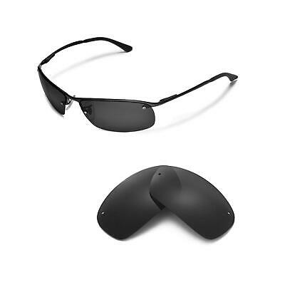 44721ce0c9 New Walleva Black Polarized Replacement lenses For Ray-Ban RB3183 63mm