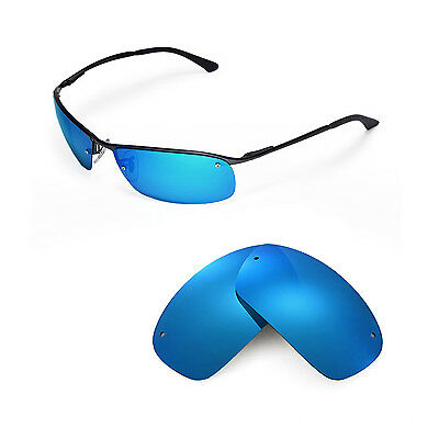 New Walleva Polarized Ice Blue Replacement For Ray-Ban RB3183 63mm