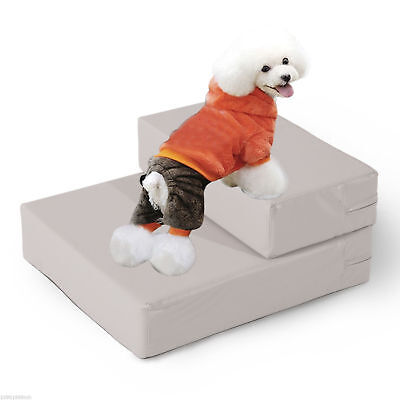PawHut 2in1 Multi-fuctional Pet Folding Stairs Dog Cat Bed Sleeping Mat 2 Step