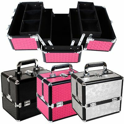 Large Beauty Cosmetic Make Up Box Vanity Case Nail Art Jewellery Storage Saloon
