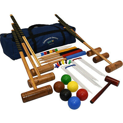 Full Size Upgraded Adult 6 Player Garden Games Longworth Garden Croquet Set