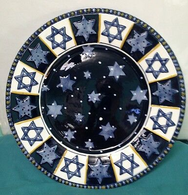 Festival of Lights Hanukah Platter Design By Nanette Vacher EUC! NICE! ON SALE!!