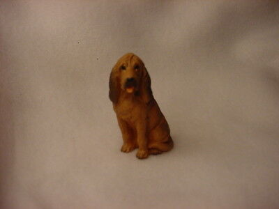 BLOODHOUND puppy TiNY FIGURINE Dog HAND PAINTED MINIATURE Mini Resin Statue NEW