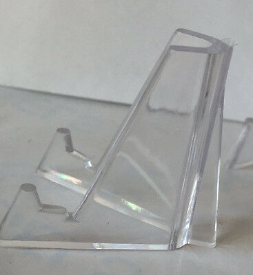 Clear Plastic Coin Stand Holder Easel Medallion Token Display AA NA Challenge