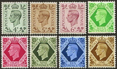 Great Britain: King George VI MNH Definitives (8)