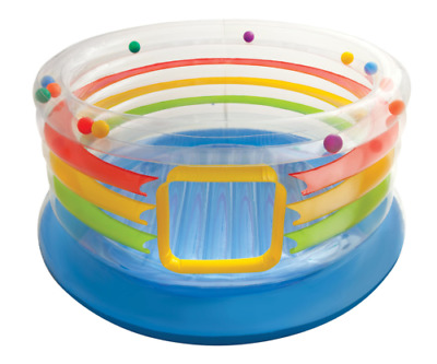 Intex Jump O Lene Transparent Ring Bounce Inflatable Ball Pit Bouncer