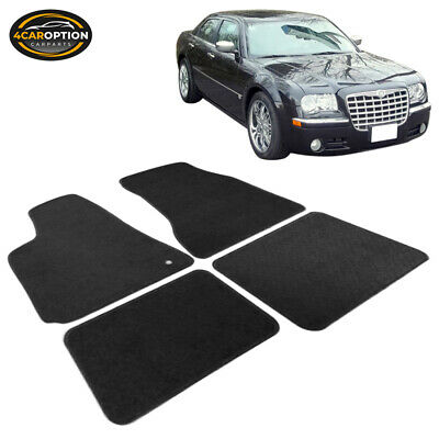 Fit For 05-10 Chrysler 300 300C 4Dr Floor Mats Carpet Front Rear Nylon Black 4PC