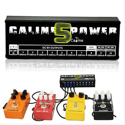 Caline CP-05 10 CH Output 9v 12v 18v Guitar Effect Pedal Power Supply 1 SET NEW