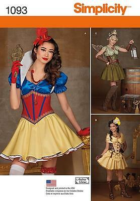 SIMPLICITY SEWING PATTERN Misses' Cosplay Costumes SIZE 6 - 22 1093