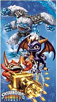 SKYLANDERS GIANTS BLUE TOWEL BATH BEACH SWIMMING 100% COTTON 70CM x 140CM KIDS