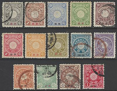 KOREA, JAPANESE PO's 1900 complete set of 14 stamps, SG#1-14, cv£972.50,  Japan